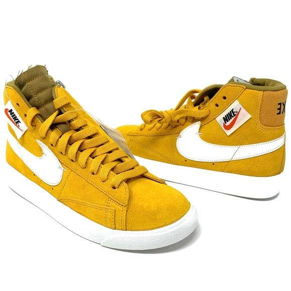 san francisco 7edf8 bc110 Nike Blazer Mid Rebel Yellow Ochre Sneakers